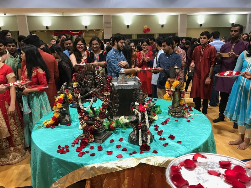 """Students celebrated the Hindu """"Festival of Lights"""" at the Rec Center."""