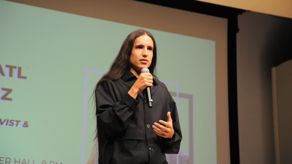 COURTESY OF CHRIS CAPUTO Indigenous activist Xiuhtezcatl Martinez calls for unified environmentalism.