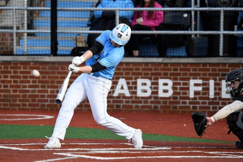 COURTESY OF HOPKINSSPORTS.COM  Junior infielder and captain Mike Eberle helps Jays to 3-0 finish on weekend.