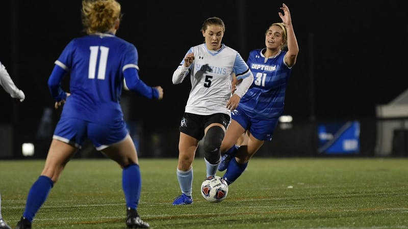 HOPKINSSPORTS.COM Coulson notched her fourth goal of the season early in the must-win game.
