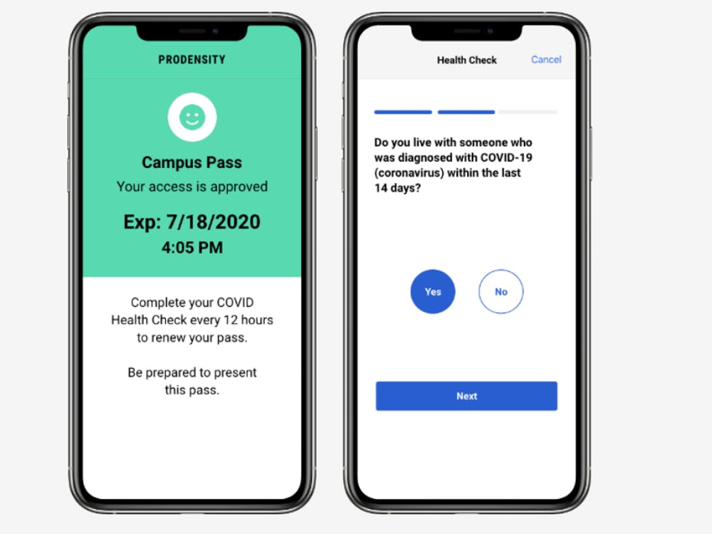 COURTESY OF THE JOHNS HOPKINS TECHNOLOGY INNOVATION CENTER The Prodensity app has expanded upon its original goal of helping labs social distance.