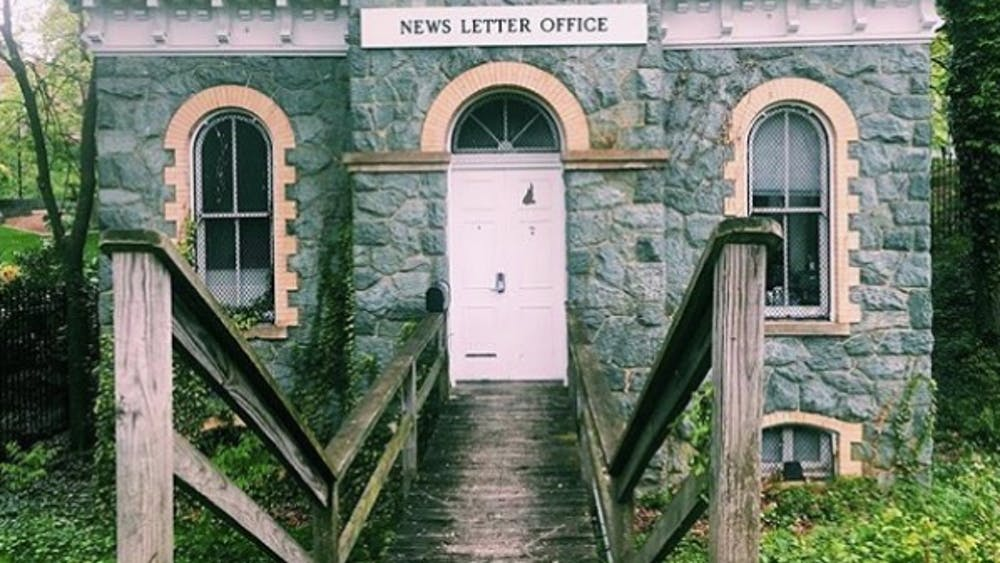 COURTESY OF JACQUI NEBER The Gatehouse and The News-Letter have been the author's home for four years at Hopkins.