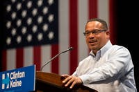 lorie schaull/cc by-sa 4.0 Keith Ellison is running for DNC chair as a representative of the leftists in the party.