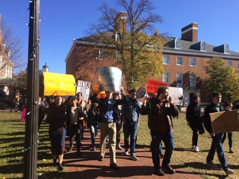 FILE PHOTO Two years ago, the Humanities Center faced potential closure, inciting student protests.