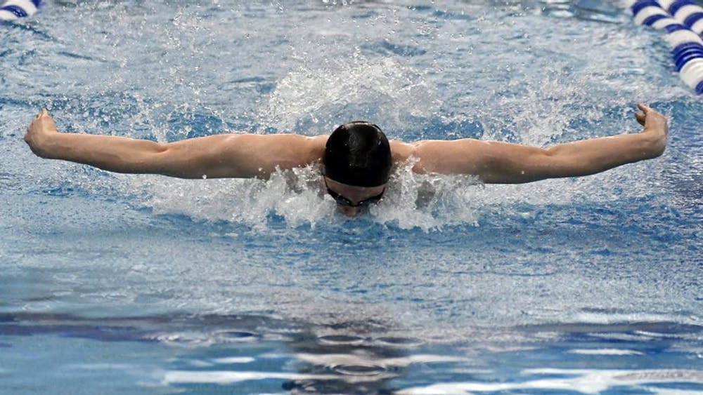HOPKINSSPORTS.COM The men's and women's swimming teams won 11 events last weekend against the Carnegie Mellon Tartans.