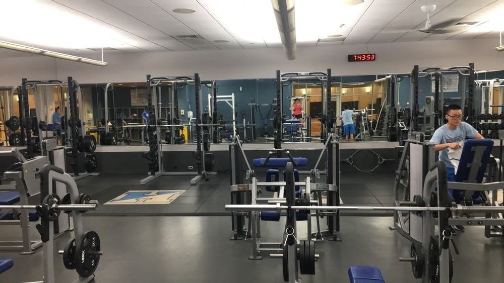 COURTESY OF EDA INCEKARA Students can attend fitness classes at the Rec Center even during finals week.