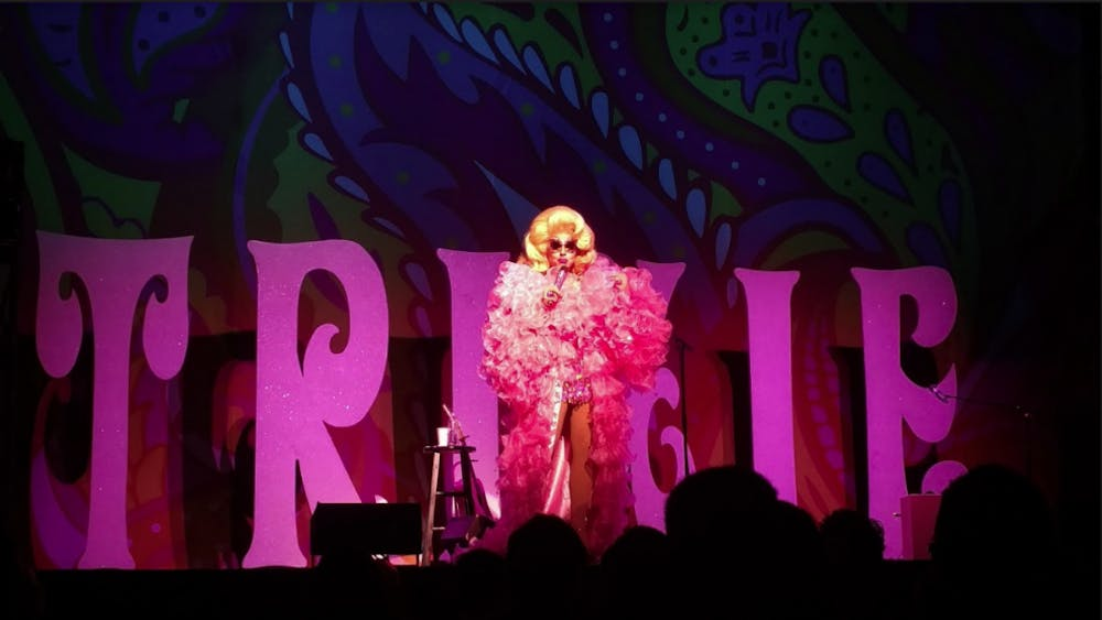 "Courtesy of Cole Douglass Trixie Mattel performs her one-woman-show ""Now With Moving Parts' in Washington D.C."