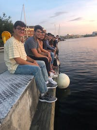 COURTESY OF LAURA WADSTEN   In a departure from O-Weeks of previous years, students in the Class of 2023 had the opportunity to dine in and explore Baltimore at night.