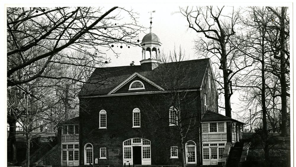 COURTESY OF THE UNIVERSITY ARCHIVES — SHERIDAN LIBRARIES The Barn, pictured in 1965, was once the office space for The News-Letter.