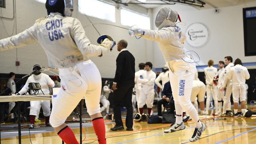 HOPKINSSPORTS.COM David DeScherer finished second among Division III fencers in the sabre.