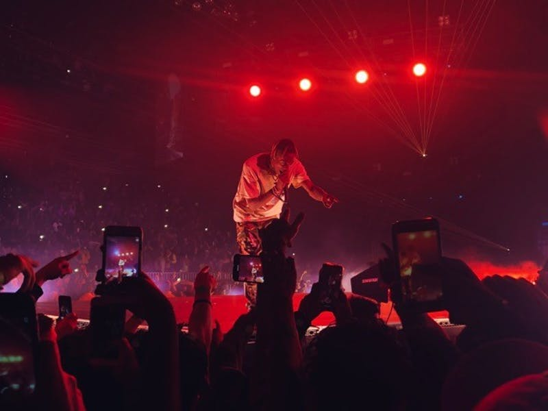 Courtesy of Cate Turner Travis Scott performs the first stop of his tour at Royal Farms Arena.