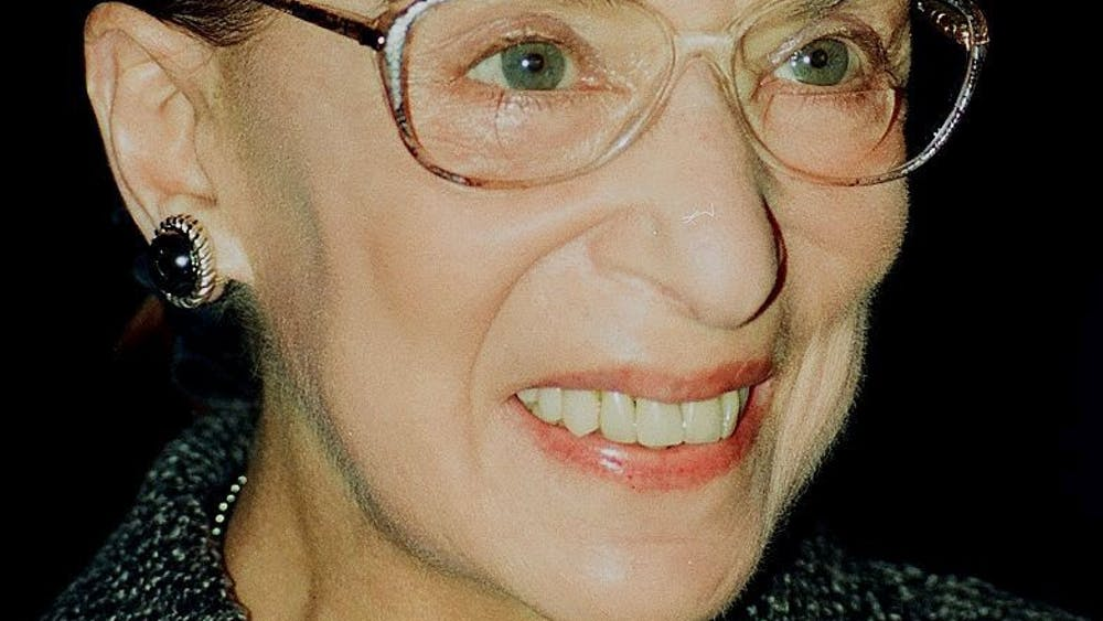 John Mathew Smith / CC BY-SA Perlman honors Justice Ruth Bader Ginsburg and her commitment to gender equality.