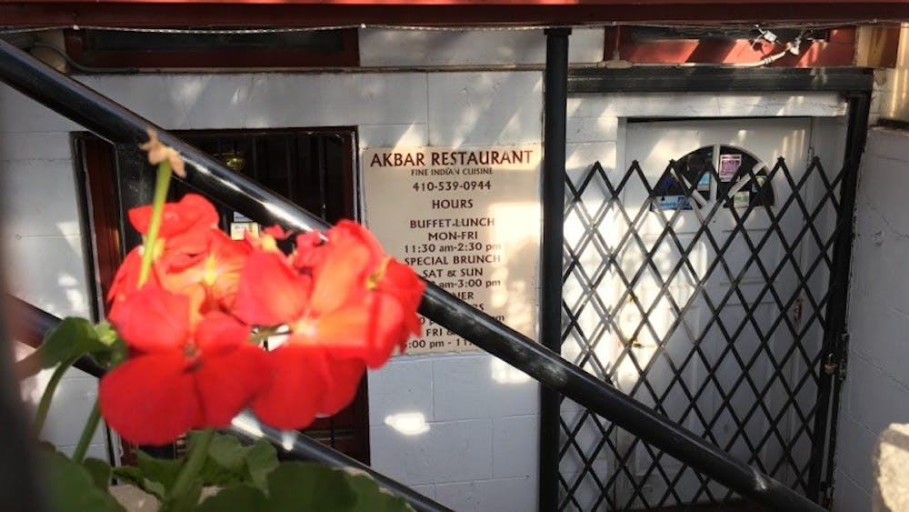 COURTESY OF RENEE SCAVONE Akbar is an Indian restaurant located below the streets of Mount Vernon.