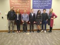 COURTESY OF ALLISON SEYLER DURA recipients and Hugh Hawkins Fellows discussed their work in a panel presentation.