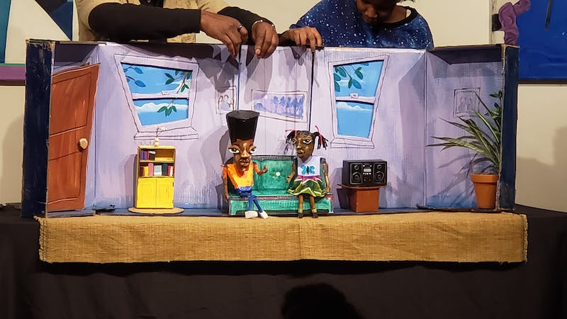 """Courtesy of Kanak Gupta The first performance followed the story of siblings writing a """"collab story."""""""