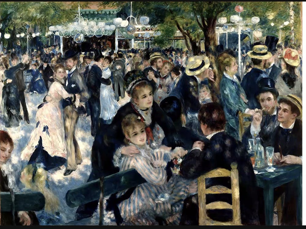 COURTESY OF SARAH JUNG Dance at Le moulin de la Galette was one of his many works presented during his birthday livestream event.