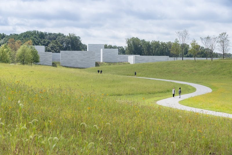 Courtesy of Glenstone Museum The path to the Pavillions Building is a scenic journey through nature.
