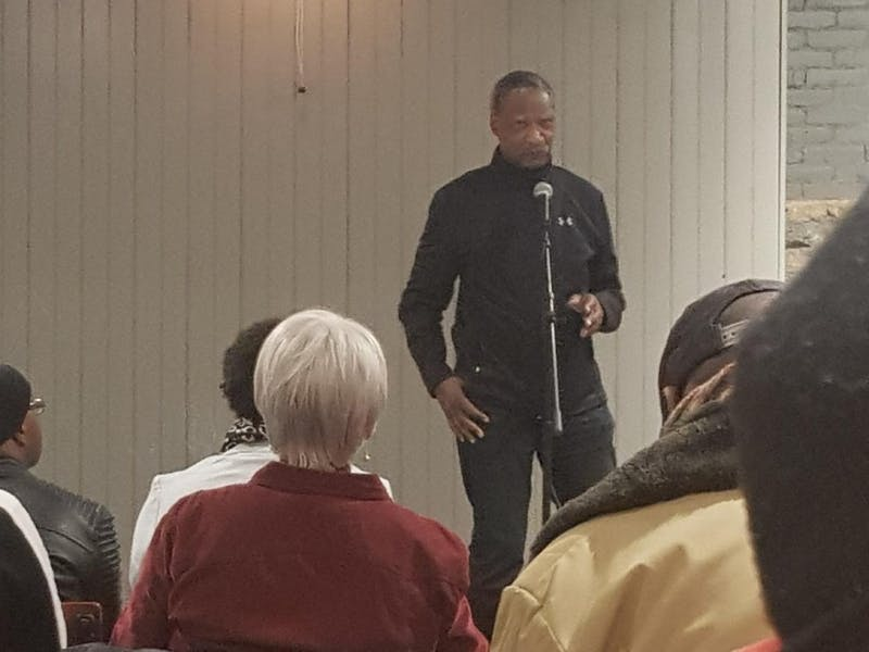 """Many members of the community gathered to celebrate Marshal """"Eddie"""" Conway's life."""