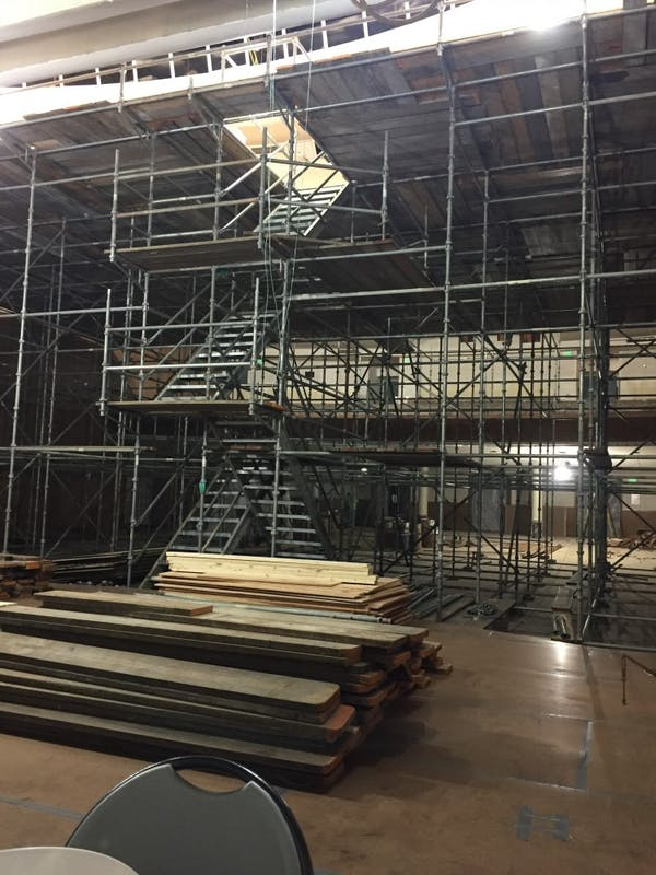 COURTESY OF RIPARIUS CONSTRUCTION INC. Construction, originally set to finish in January, was extended into the 2018-2019 academic year.