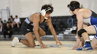HOPKINSSPORTS.COM The wrestling team is looking to make a deep postseason run this year.