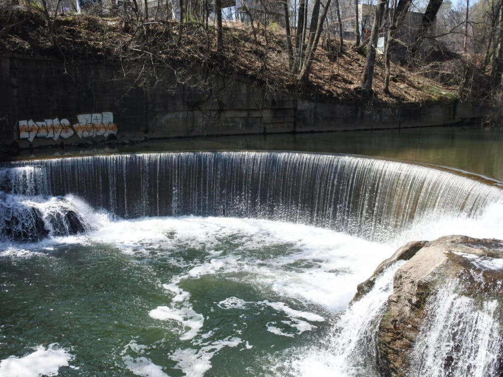 COURTESY OF JOHN MURPHY Cycle past Jones Falls on your ride through Baltimore.