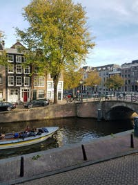 COURTESY OF CECILIA VORFELD Amsterdam is known for its gorgeous canals in the heart of the city.