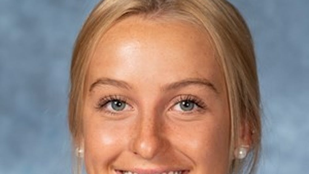 HOPKINSSPORTS.COM Junior attackman Aurora Cordingley.