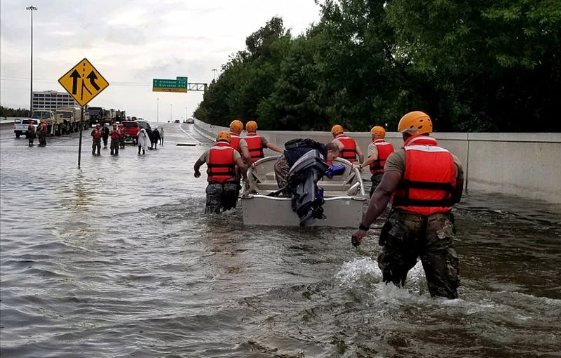 PUBLIC DOMAIN Armitage cites natural disasters such as Hurricane Harvey as evidence for climate change.