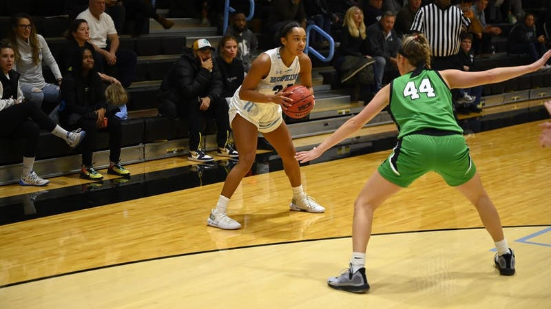 HOPKINSSPORTS.COM Women's basketball is finding their footing after starting the year 2-2 without last year's seniors.