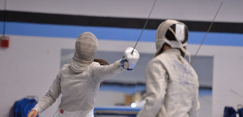 HOPKINSSPORTS.COM The Hopkins men's and women's fencing teams traveled to Haverford College to compete in the Dan Arnstein Invitational, where both teams finished the day 3-0.