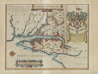 The maps featured in the Peabody Library were donated by a Hopkins alum.