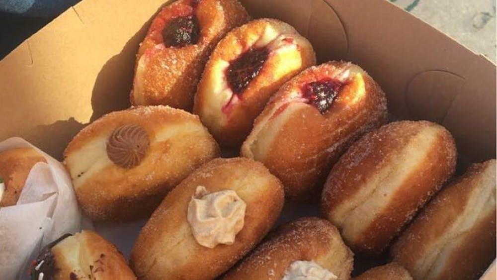 PHOTO COURTESY OF IFE AKINKUNMI The sweet, sweet harvest of an early morning run to B. Doughnut.