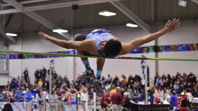HOPKINSSPORTS.COM Freshman Justin Cannedy has two top-eight finishes at NCAAs.