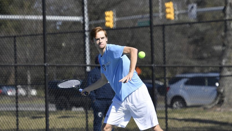 HOPKINSSPORTS.COM Both tennis teams beat Swarthmore this weekend to secure the regular season Conference championship.