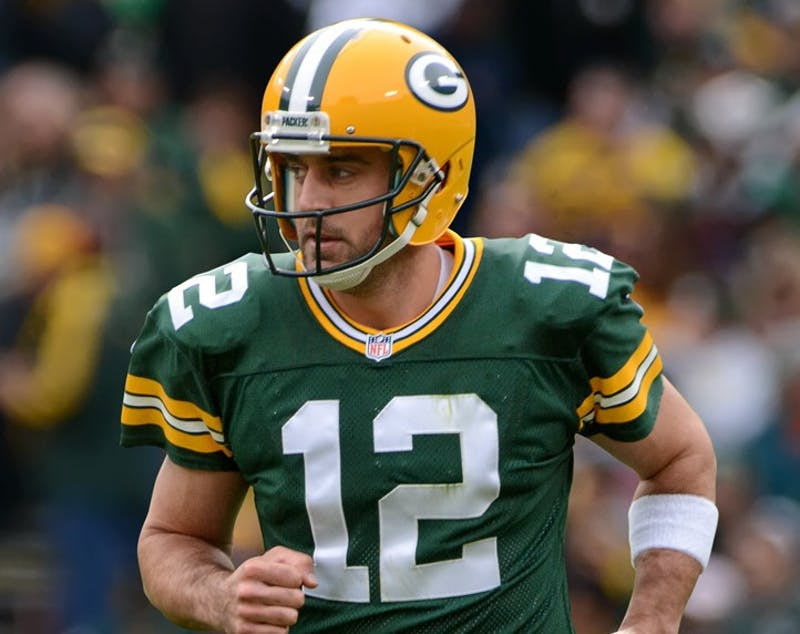 Mike Morbeck/CC BY-SA 2.0 The Green Bay Packers need to get Aaron Rodgers some help ASAP.