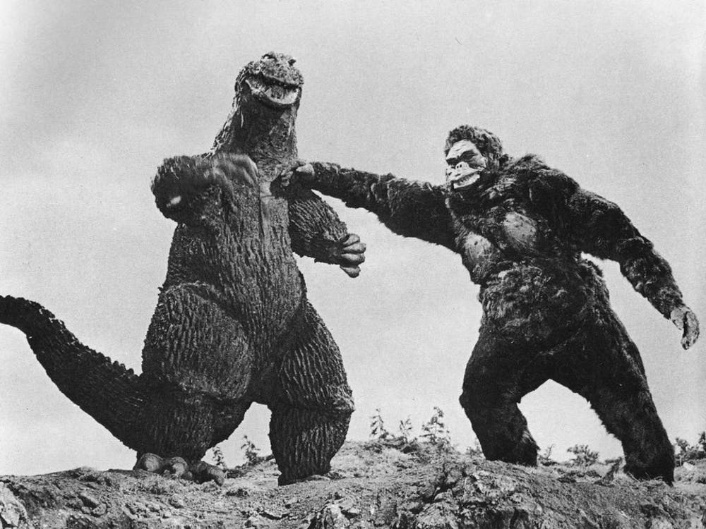 TOM SIMPSON/CC BY-NC 2.0 Pictured is an image from the 1962 film King Kong vs. Godzilla.