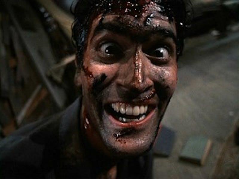 Wendy/ cc by-sa 2.0  Bruce Campbell stars as Ash in Sam Raimi's 1987 horror film Evil Dead II.