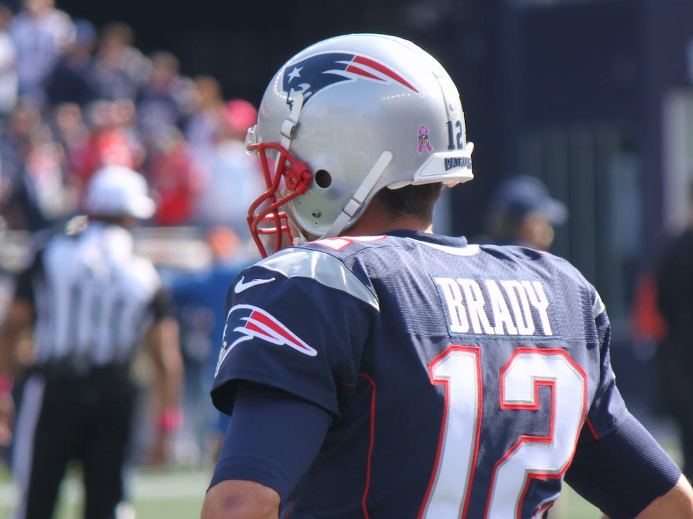 PETER BOND / CC BY-NC 2.0 Tom Brady won six Super Bowl championships for New England before joining the Tampa Bay Buccaneers.