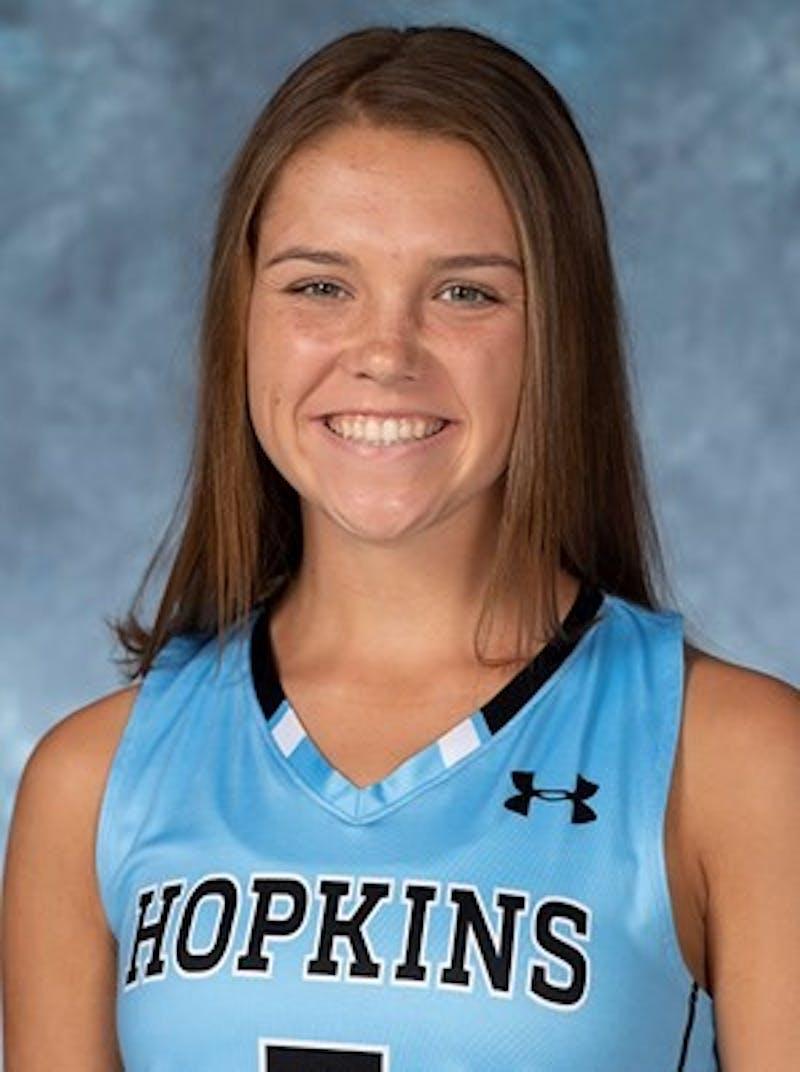 HOPKINSSPORTS.COM Sophomore midfielder Abby Birk.