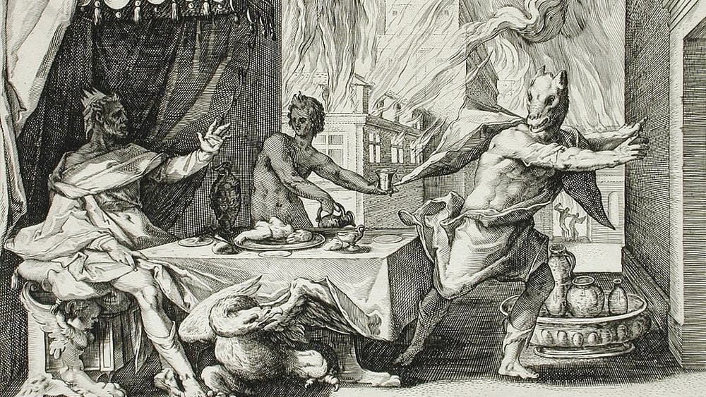 LOS ANGELES COUNTY MUSEUM OF ART / PUBLIC DOMAIN In Greek mythology, Zeus transformed Lycaon into a werewolf as punishment for testing his omniscience.