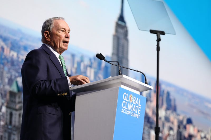 NIKKI RITCHER/CC BY 2.0 Michael Bloomberg has supported measures to fight climate change.