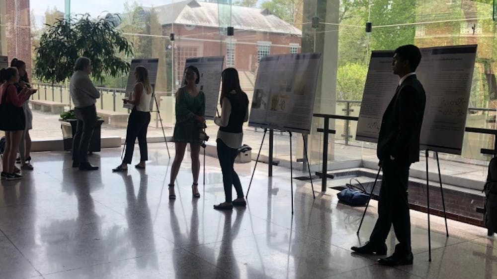 Senior Woodrow Wilson fellows shared their original research projects with attendees.