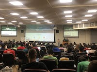 COURTESY OF ANANTA SRIVASTAVA  Students worked on their hacking projects throughout the 36 hours that HopHacks elapsed.