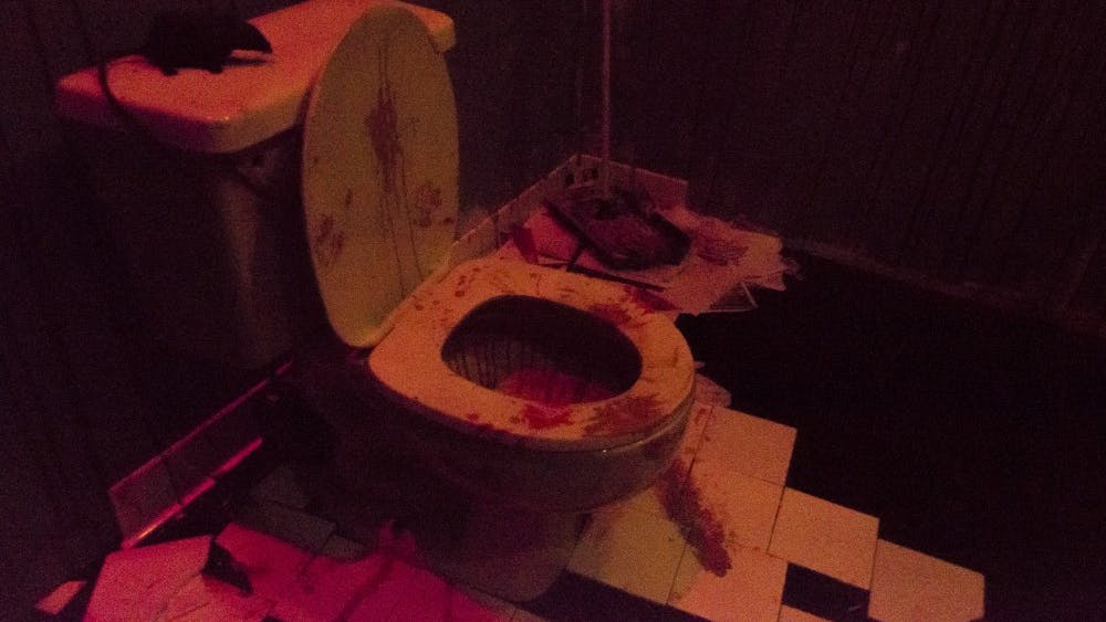 Courtesy of ANNA GOODRIDGE  The MICA haunted house featured a variety of frightening scenes.