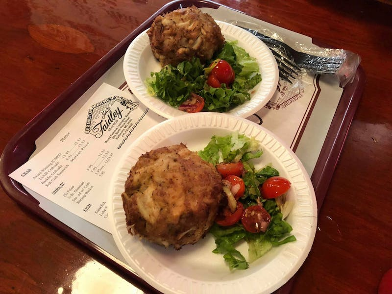 COURTESY OF NATALIE WU Wu praises the crabcakes from Faidley Seafood at Lexington Market.