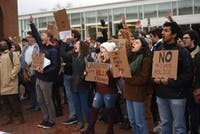 Students Against Private Police organized one of the largest campus protests just days after the University announced its intent to create a campus police force on March 8, 2018.