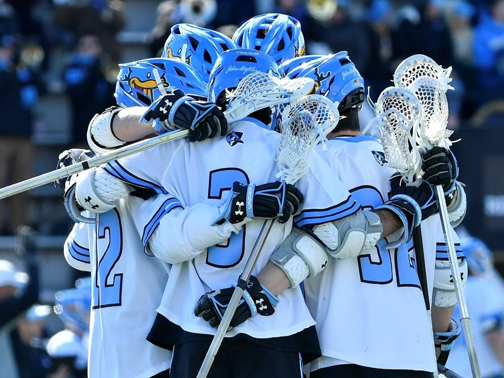 COURTESY OF HOPKINSSPORTS.COM The men's lacrosse team couldn't overcome an early run from Ohio State in their first game of the season.