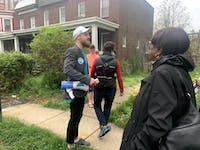 COURTESY OF Rachel Juieng Graham Coreil-Allen leads a tour through historic Auchentoroly Terrace.