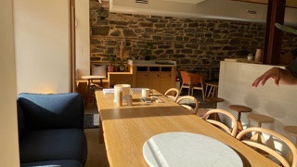 COURTESY OF EUNICE PARK Local cafe good neighbor is a serene workspace, perfect for studying or enjoying morning brunch.