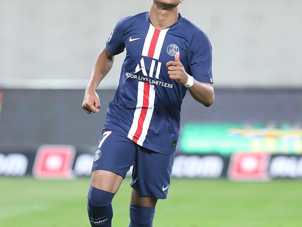 CC BY-SA 4.0/Sandro Halank Paris Saint-Germain forward Kylian Mbappé put up a hat-trick against Barcelona.